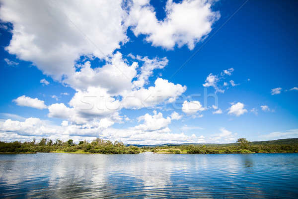 Calm River and Amazing Blue Sky Stock photo © aetb