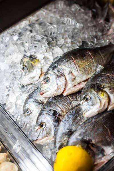 魚 カウンタ 生 海 レストラン 業界 ストックフォト © aetb