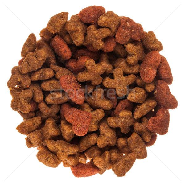 Drogen kat voedsel cirkel geïsoleerd Stockfoto © aetb