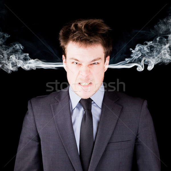 Portrait of a furious businessman Stock photo © aetb