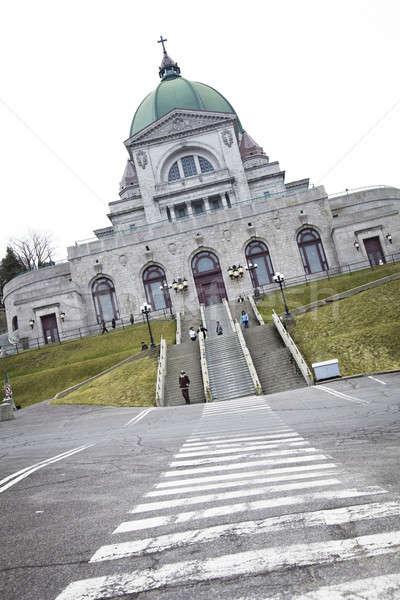 пешеход пути город крест Церкви архитектура Сток-фото © aetb