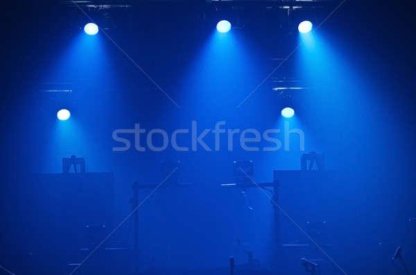 Leer Bühne Silhouette Licht Rauch Konzert Stock foto © aetb