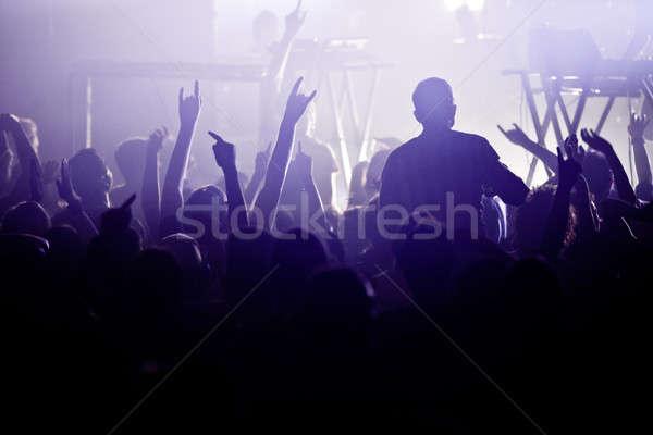 Rock toczyć dobre tłum duży pokaż Zdjęcia stock © aetb