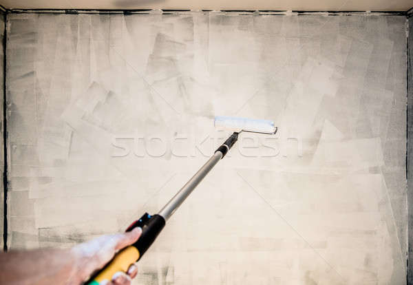 POV of Someone Painting the Wall Stock photo © aetb