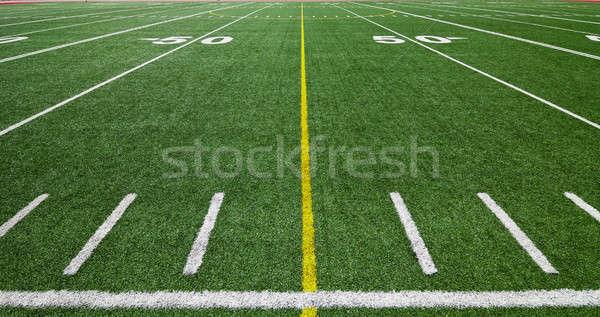 Campo de fútbol Foto stock © aetb