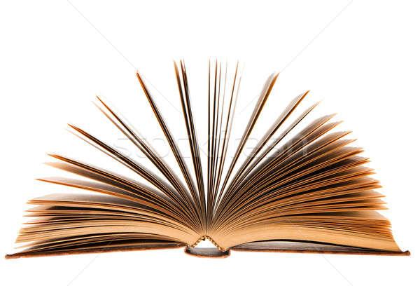 図書 白 古本 孤立した 背景 教育 ストックフォト © aetb