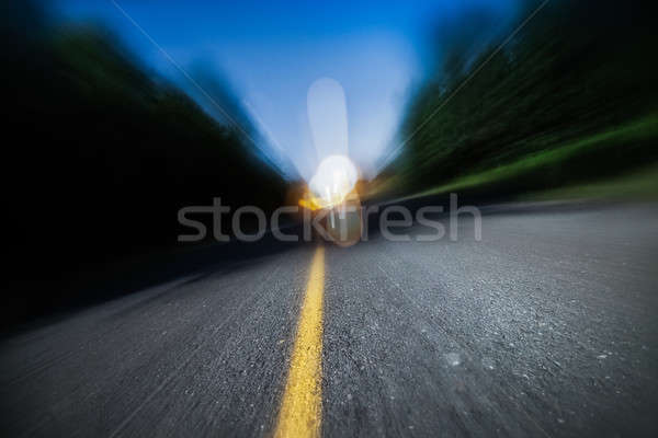 Blurry Road at Night. Drunk Driving, Speeding or Being too Tired Stock photo © aetb