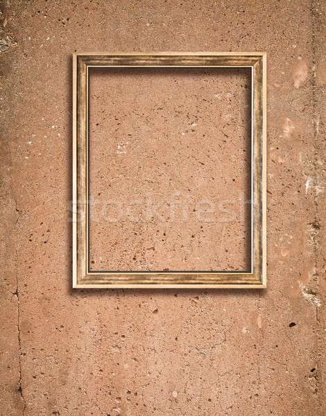 Beton doku ahşap çerçeve ayrıntılar inşaat duvar Stok fotoğraf © aetb