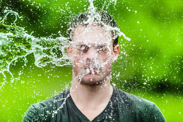 Young Adult That Got Completely Drenched Stock photo © aetb