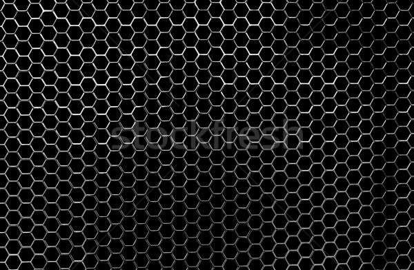 Propre brillant en nid d'abeille chrome métallique Photo stock © aetb