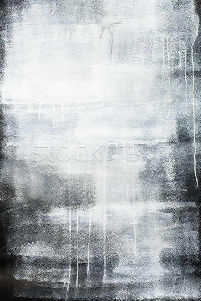Stockfoto: Artistiek · grijs · geschilderd · textuur · doek · muur