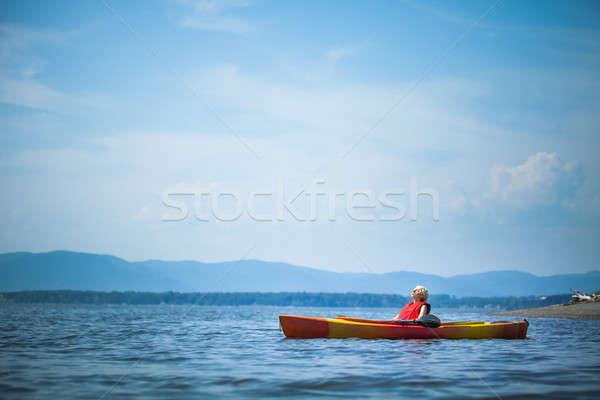 女性 リラックス カヤック 生活 若い女性 ストックフォト © aetb