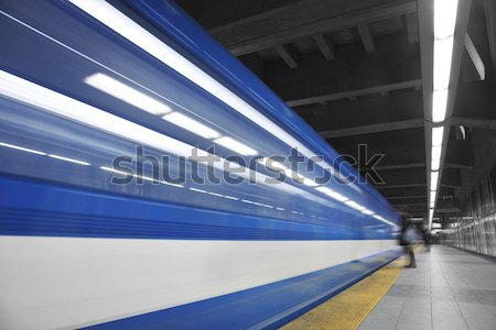 Fast metro passing by  Stock photo © aetb