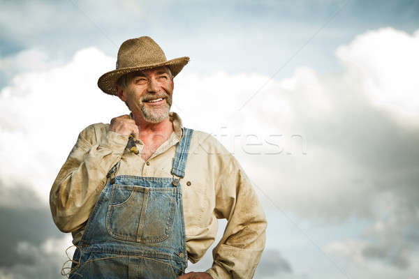 1930 jeans sorridente sol Foto stock © aetb