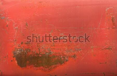 Rusty red metal tank texture Stock photo © aetb