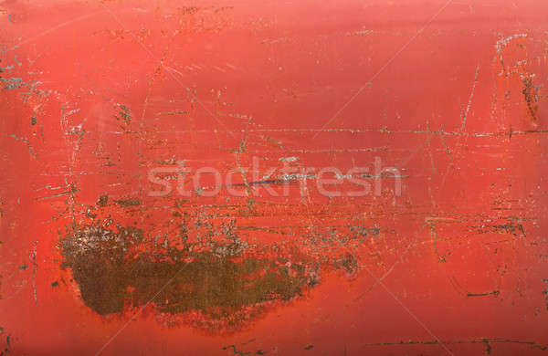 Red rusty metal texture Stock photo © aetb