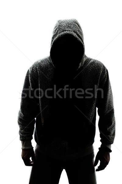 Stock photo: Mysterious man in silhouette