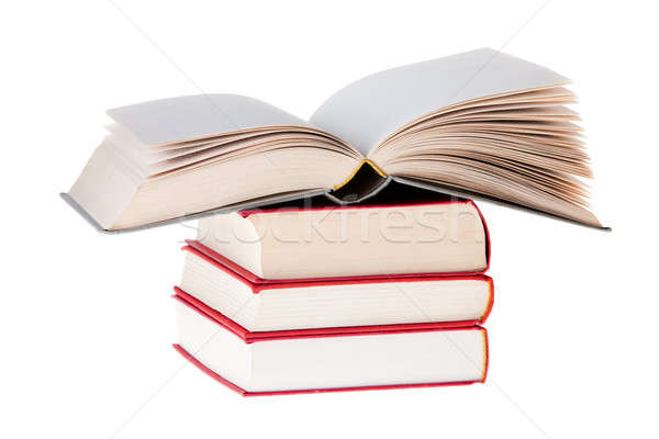 Blanc Book open on tree red books Stock photo © aetb