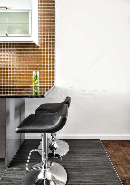Modern iç oda güzel karşı duvar Stok fotoğraf © aetb