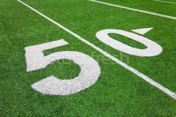 Cincuenta línea campo de fútbol Foto stock © aetb