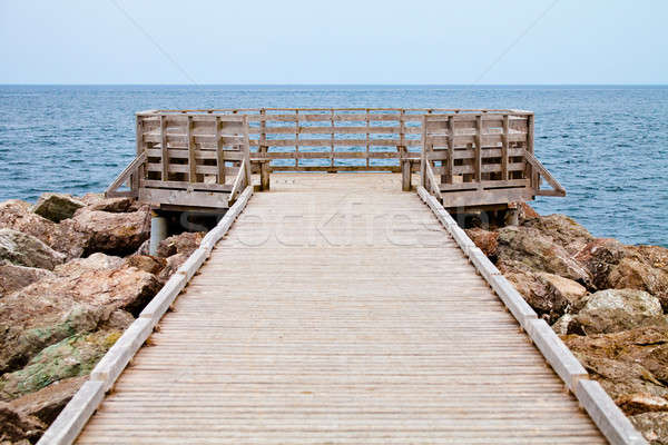 Long Wooden Dock with Observatory and View of the Ocean Stock photo © aetb