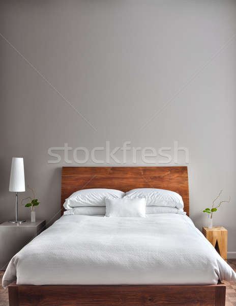 Beautiful Clean and Modern Bedroom Stock photo © aetb