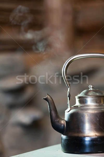 Boiling silver kettle Stock photo © aetb