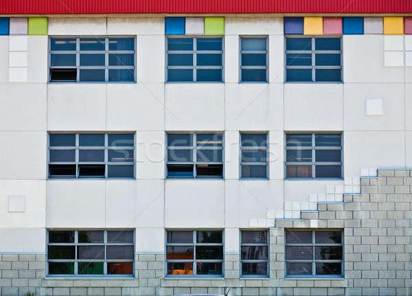 カラフル ジェネリック 壁 窓 広場 ストックフォト © aetb