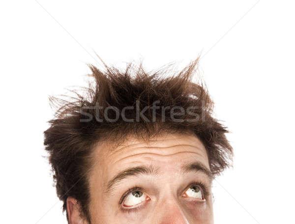 Bitkin adam yalıtılmış beyaz Stok fotoğraf © aetb