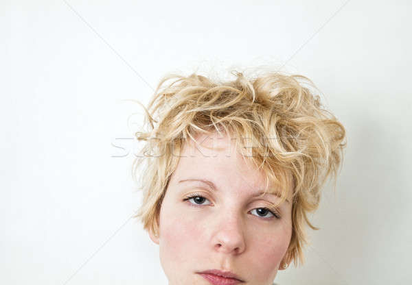 Primo piano ragazza testa guardando fotocamera Foto d'archivio © aetb