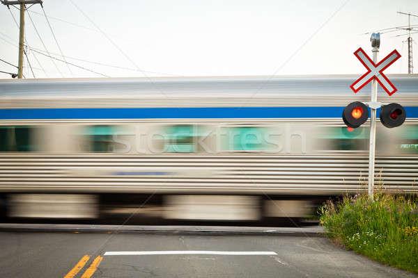 Trenler seviye yol kentsel sanayi çelik Stok fotoğraf © aetb