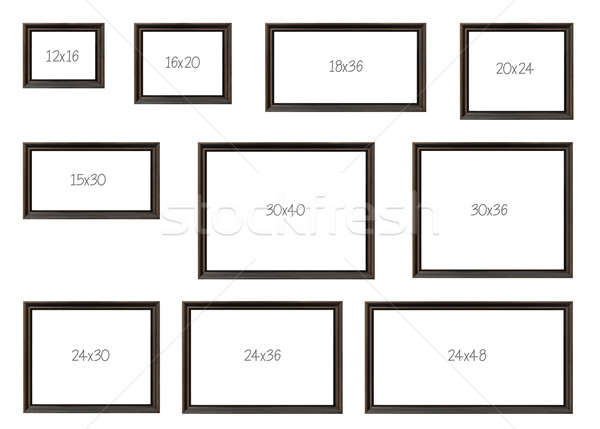 The Ten Most popular Selling Frames Dimensions Stock photo © aetb