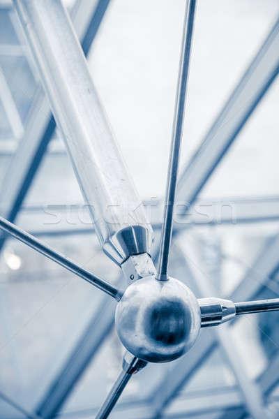 современных архитектурный застекленная крыша структуры детали Сток-фото © aetb