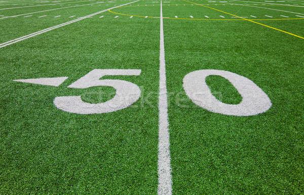 fifty yard line - football field  Stock photo © aetb