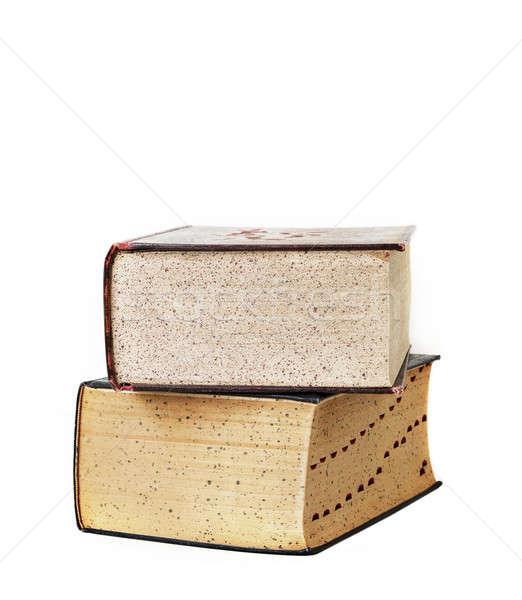 Köteg kettő öreg szótár Stock fotó © aetb