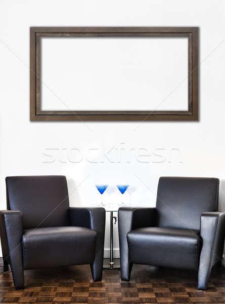 Modern iç oda beyaz duvar büyük Stok fotoğraf © aetb