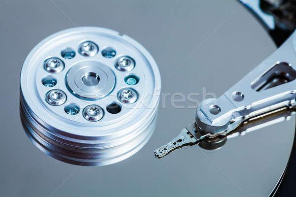 Sabit disk mekanizma ayrıntılar kol bilgisayar güvenlik Stok fotoğraf © aetb