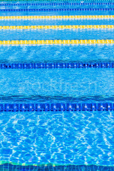 Olympic Pool Corridor Cables Floating Stock photo © aetb
