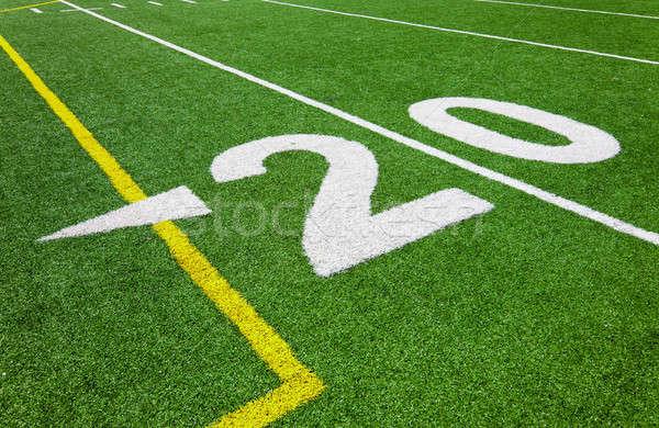 Stock fotó: Húsz · vonal · futball