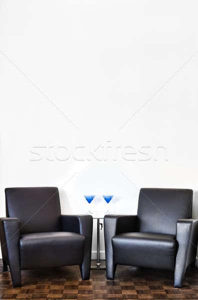 Stok fotoğraf: Modern · iç · oda · beyaz · duvar · uzay