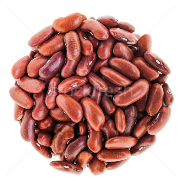 Perfect Circle of Red beans Isolated on White Stock photo © aetb