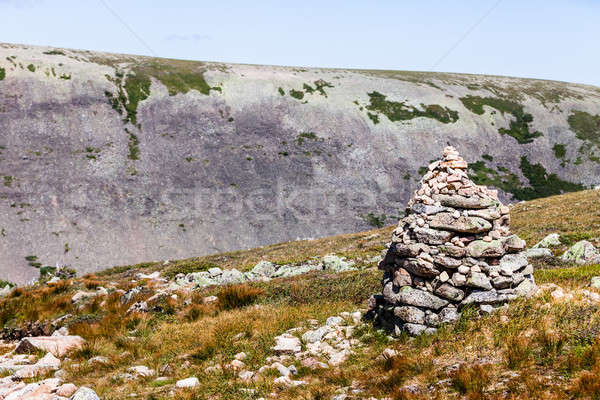 Stok fotoğraf: Görmek · Quebec · Kanada · ünlü · kaya · ağaç