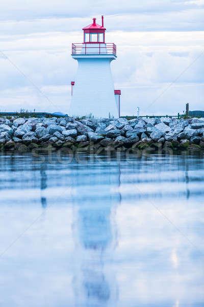 Маяк полуостров новых Квебек Канада облака Сток-фото © aetb