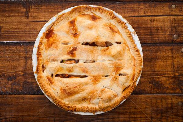 Freshly baked apple pie Stock photo © aetb
