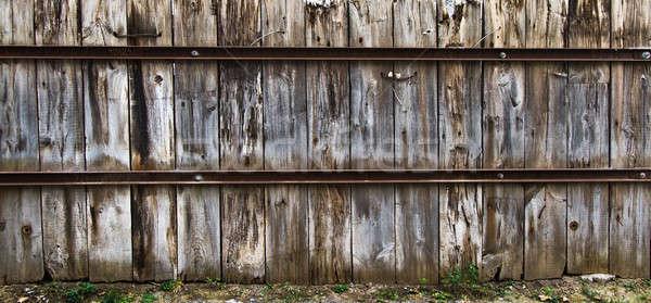 Eski ahşap çit doku eski Montreal paslı Stok fotoğraf © aetb