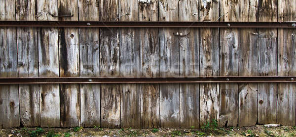 Oud hout hek textuur oude Montreal roestige Stockfoto © aetb