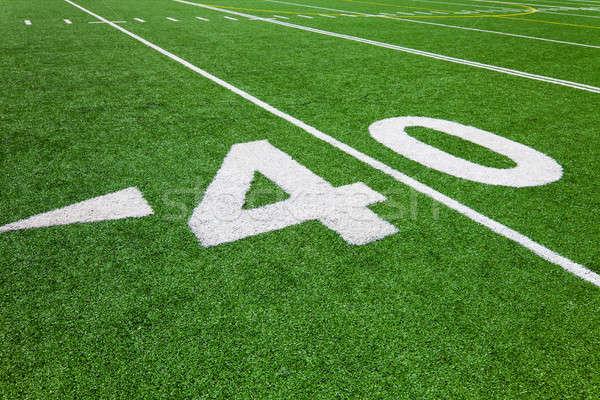 Negyven vonal futball Stock fotó © aetb