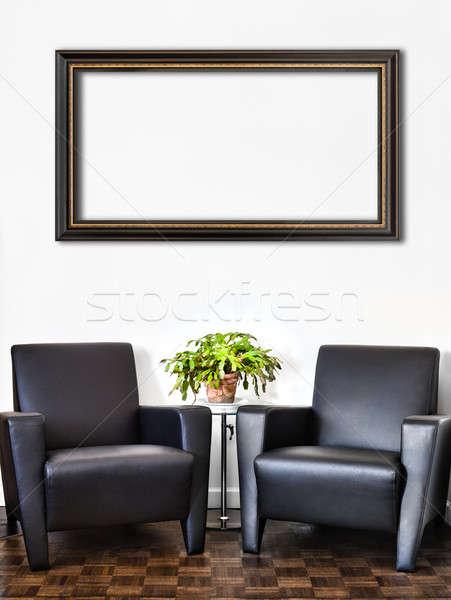 Сток-фото: современных · интерьер · комнату · белый · стены · большой