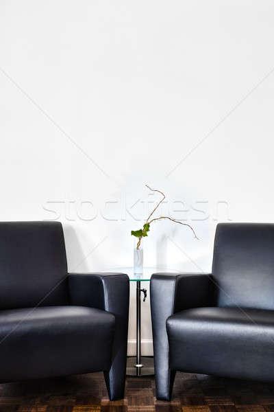 Moderne interieur kamer witte muur ruimte Stockfoto © aetb