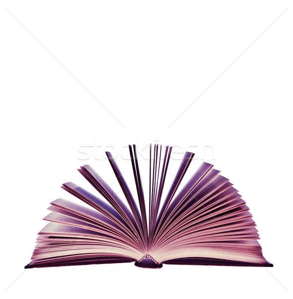 Weird roze boek geïsoleerd witte achtergrond Stockfoto © aetb